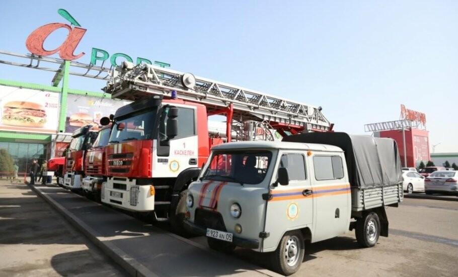 Резонанс на пожар в Кемерово: пожарные края Жетысу провели учения в ТРЦ «Молл Апорт», фото-2