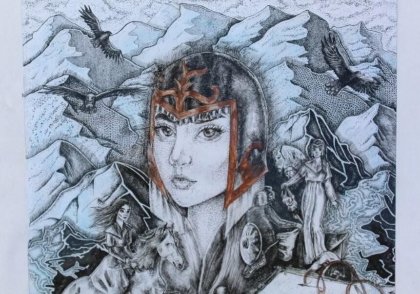 Картинную галерею развернули юные художники на праздник в Талдыкоргане, фото-3