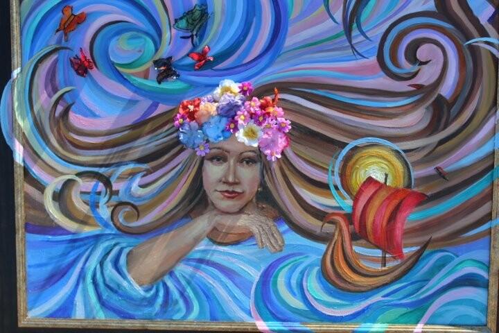 Картинную галерею развернули юные художники на праздник в Талдыкоргане, фото-1